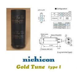 Nichicon KG 10000uF 100V 'Gold Tune' elettrolitico ^ dxh 40x100, LKG2A103MKNF
