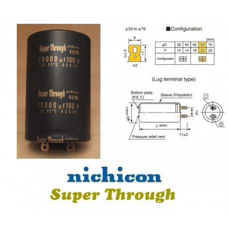 Nichicon KG 10000uF 100V 'Super Through'