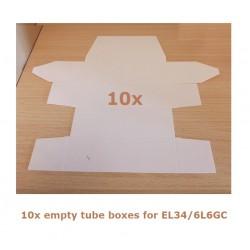 10x Scatola bianca per valvole tipo EL34/6L6GC