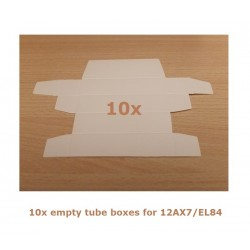 10x Scatole bianche per 12AX7/EL84/6CG7