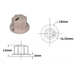 MXR style CREAM knob 19mm, set screw mounting