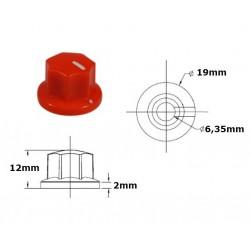Manopola MXR style ROSSA 19mm, fissaggio a vite