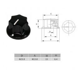Manopola MXR style NERA 24mm