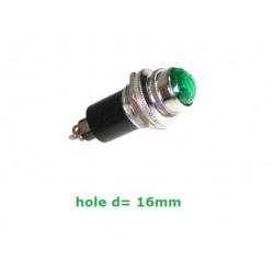 Daier DR016, gemma verde con portalampadina e lampadina 6,3v, economica