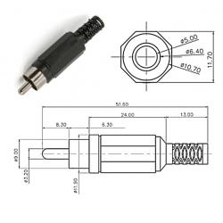 SC Precision RCA plug