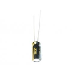 Nichicon KW 100uF 25V, condensatore elettrolitico radiale, UKW1E101MED