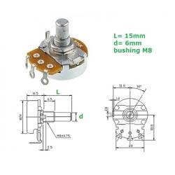 ECC 24mm 250KB, mono LOG potentiometer (QB3)