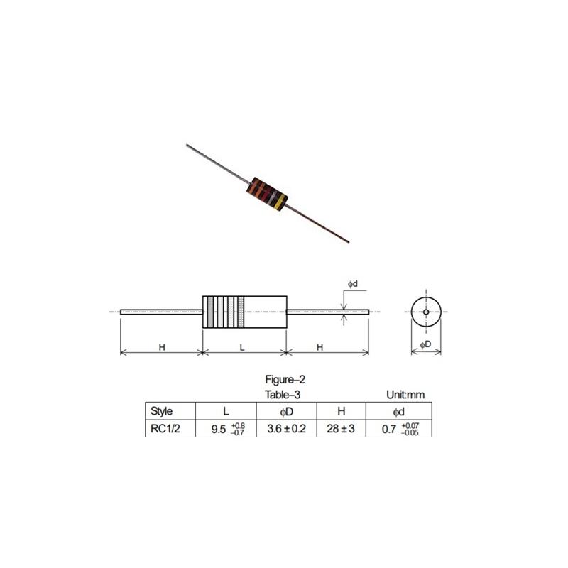 2x Xicon 2M2 1//2W resistenza ad impasto di carbone
