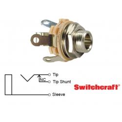 Switchcraft 12A, jack 6,35mm MONO, circuito chiuso