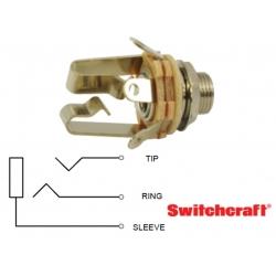 Switchcraft 12B, jack 6,35mm STEREO, circuito aperto