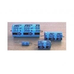Trec 10uF/350V condensatore elettrolitico assiale, DxL 13x21mm