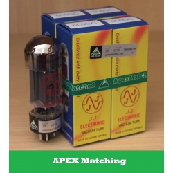 JJ Electronic 6L6GC APEX valvole selezionate in QUARTETTO