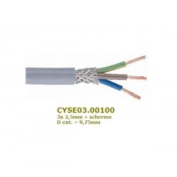 Belden CYSE03.00100, 3x 2,5mm cavo tripolare + schermo, D: 9,75mm (€x 1mt.)