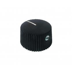 ''Barrel'' BLACK Fender style knob, set screw, d: 21mm
