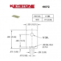 Keystone 4672, isolatore in MICA per transistor, TO-220