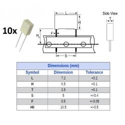 Kemet MKT 0.0022uF/100V