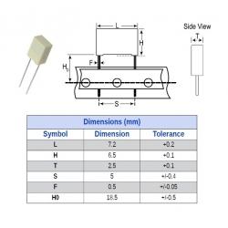 Kemet MKT 0,0047uF/100V