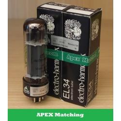 Electro Harmonix EL34 APEX valvole selezionate in COPPIA