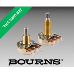 Bourns 24, 500KA, 3/8', potenziometro LOG perno zigrinato, PDB241-GTR01-504A2