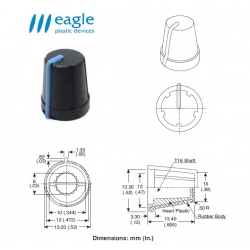 EAGLE Plastic ''soft touch'', BLUE line