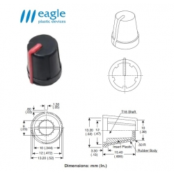EAGLE Plastic ''soft touch'', RED line
