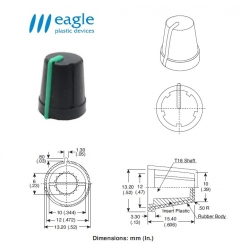 EAGLE Plastic ''soft touch'', GREEN line