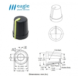 EAGLE Plastic ''soft touch'', YELLOW line
