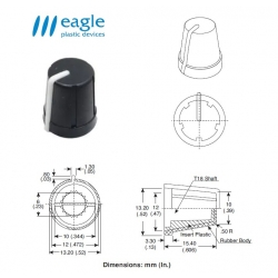 EAGLE Plastic ''soft touch'', WHITE line