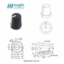 EAGLE Plastic ''soft touch'', GREY line
