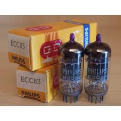 Philips UK ECC83, coppia di valvole elettroniche selezionate