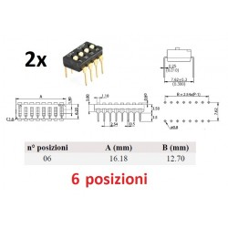 Dip Switch 6 positions