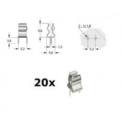 Portafusibile a pinza, clip, 5x20 da PCB