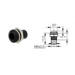 Signal Construct SMR1089, porta LED 5mm convesso in metallo NERO