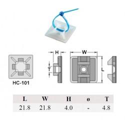 Kai Suh Suh KSS HC-101, basetta adesiva di ancoraggio per fascette, T: 4,7mm