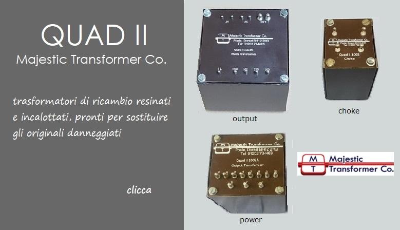 Majestic Transformer Co., trasformatori di ricambio per amplificatori d'epoca