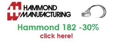 Hammond 182 series: 30% off